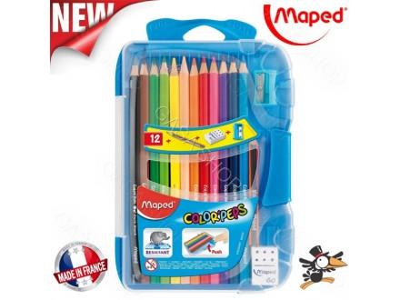 Drvene bojice Maped 1/12 pvc box 832032 - Novo