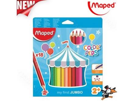 Drvene bojice Maped jumbo 1/18 No. 834012 - Novo