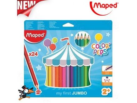 Drvene bojice Maped jumbo 1/24 No. 834013 - Novo
