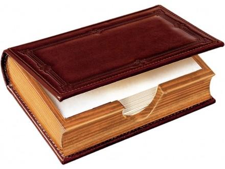 Drvene kutije za papir obložene prirodnom kožom, izrada