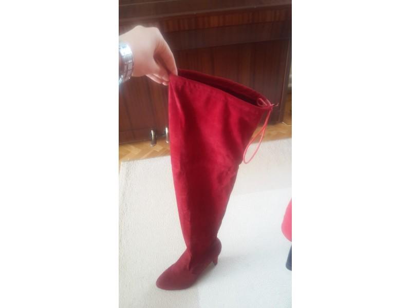 Duboke crvene čizme br. 42