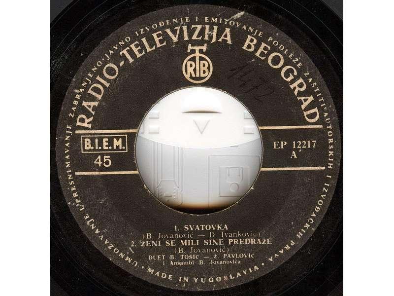 Duet Branka Tošić - Živan Pavlović - Svatovka