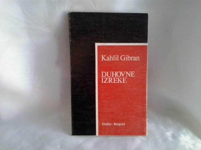 Duhovne izreke Kahlil Gibran