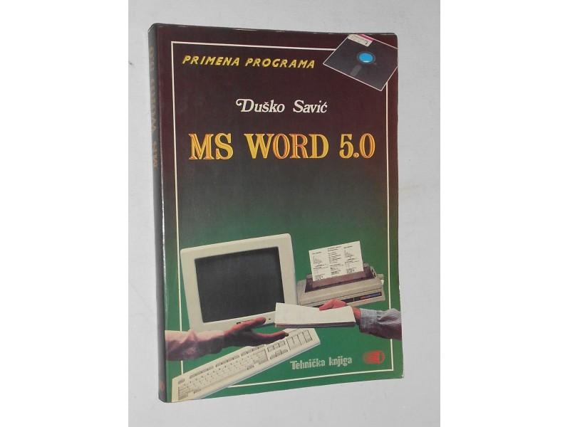 Duško Savić - MS WORD 5.0 primena programa