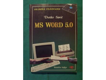 Duško Savić - MS WORD 5.0