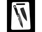 Dve daske i noz za kuhinju + BESPL DOST. ZA 3 ART.