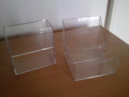 Dve kutije za flopi diskete - plasticne providne