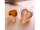 Dvoslojna staklena šolja srce  - manja 180 ml (s271)
