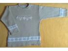 Džemper  od pamučnog konca za devojčice vel 6
