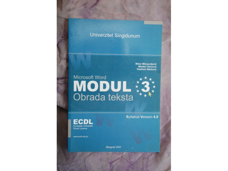 ECDL MODUL 3 - Obrada teksta