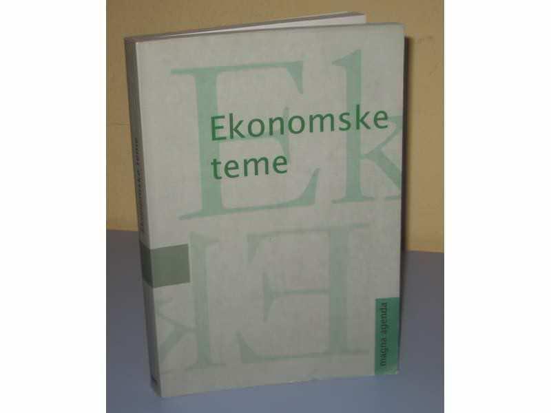 EKONOMSKE TEME Ekonomska stvarnost SR Jugoslavije