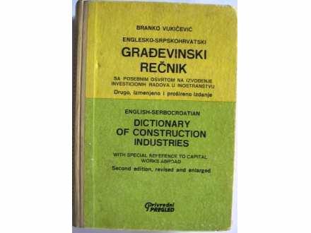 ENGLESKO-SRPSKOHRVATSKI GRAĐEVINSKI REČNIK Branko Vukič
