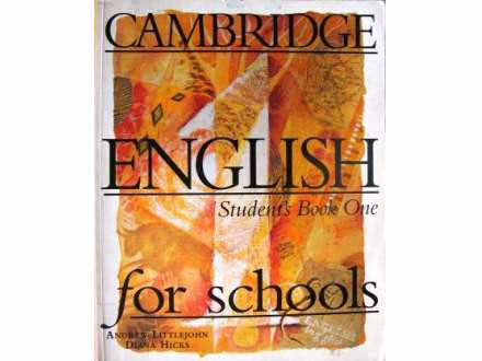 ENGLISH Students Book One for schools