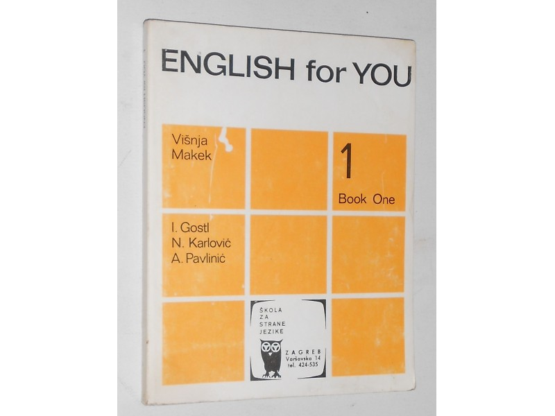 ENGLISH for YOU, book one – Višnja Makek