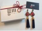 ES moda prelepe mindjuse crveni kristali u pakovanju