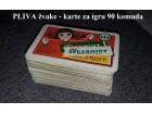 EX YU Pliva žvake - karte za igru špil 90 kom