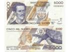 Ecuador 5000 sucres 1999. UNC