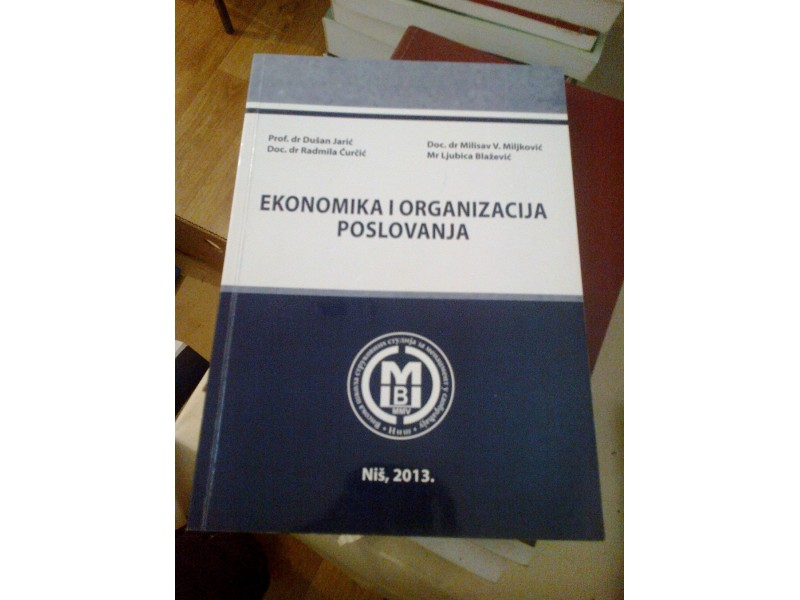 Ekonomika i organizacija poslovanja - Jarić, Ćuričić