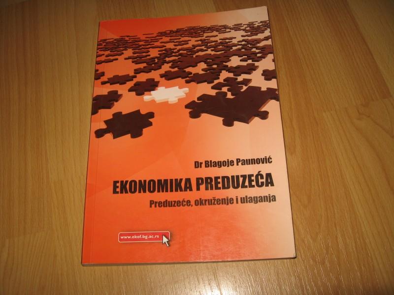 Ekonomika preduzeca - preduzece okruzenje i ulaganja