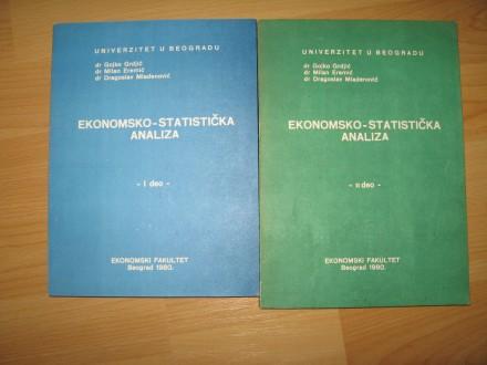 Ekonomsko statisticka analiza I i II deo