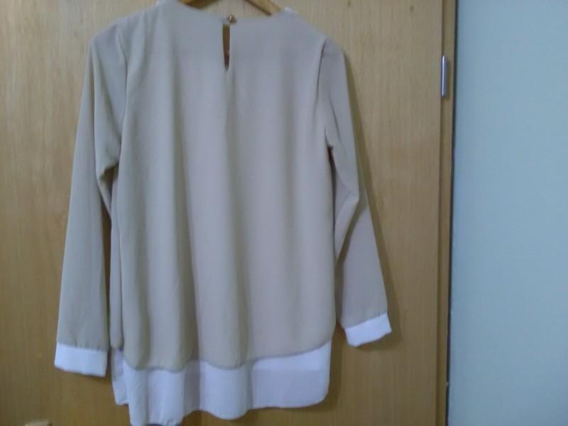 Elegantna bež bluzica tunika L