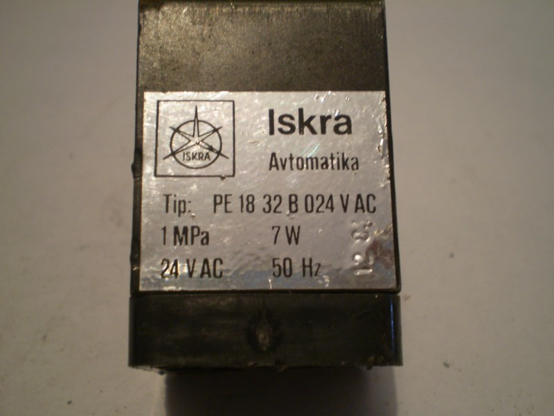Elektromagnetni ventil ISKRA Avtomatika (na 24V 50Hz)