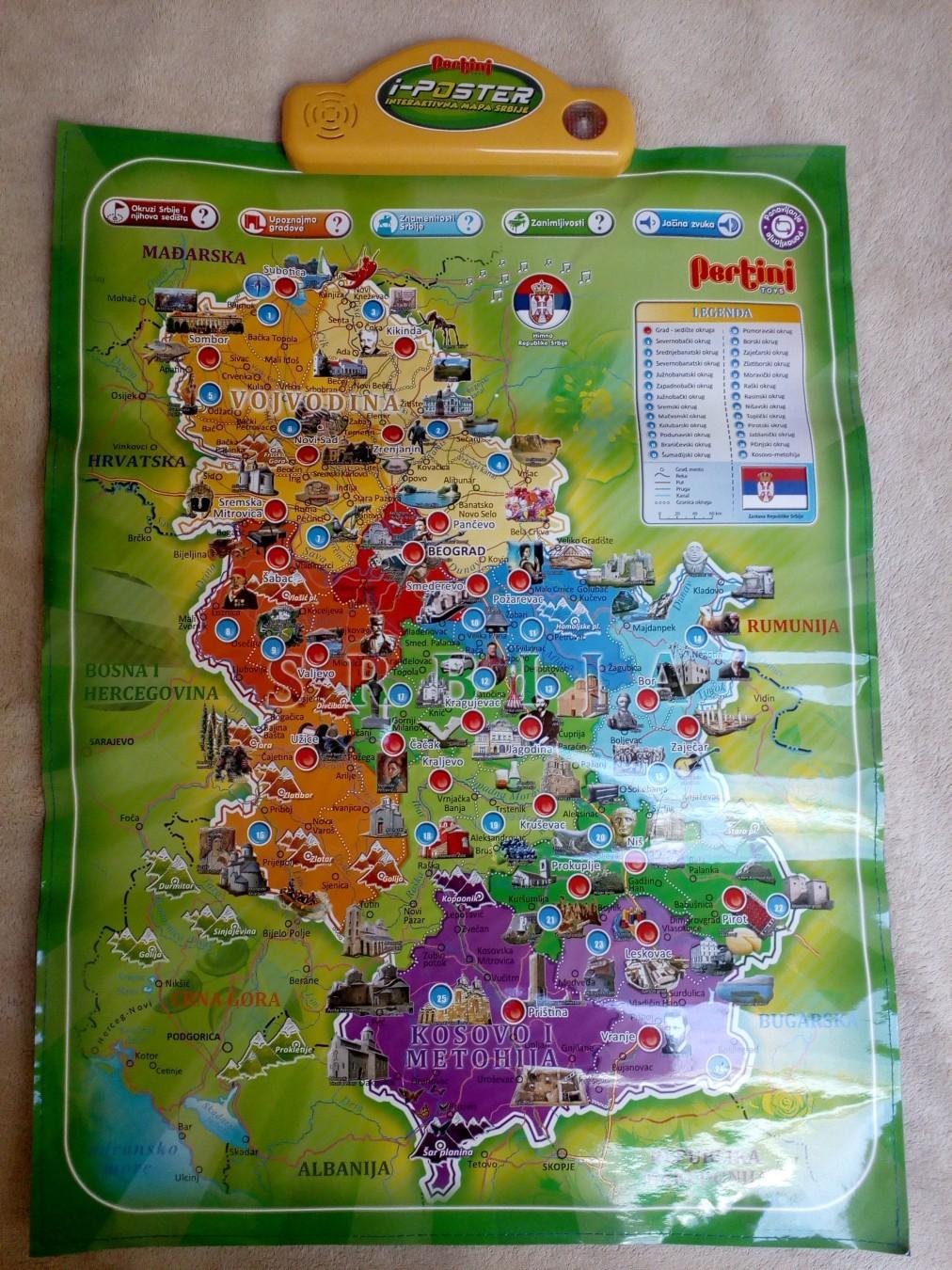 Elektronska Mapa Srbije I Sveta Kupindo Com 48527497
