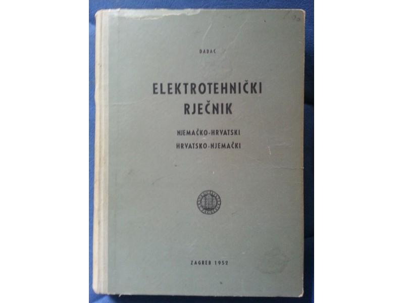 Elektrotehnicki Rjecnik - Hrvatsko - Nemacko