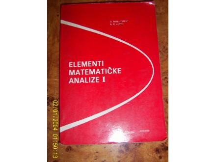 Elementi matematicke analize 1