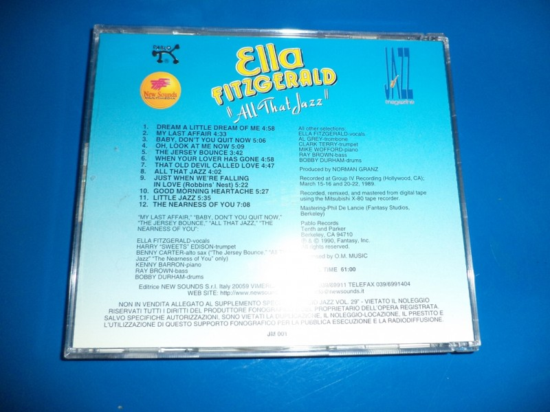 Ella Fitzgerald - Ella FitzgeraId - `All that jazz`