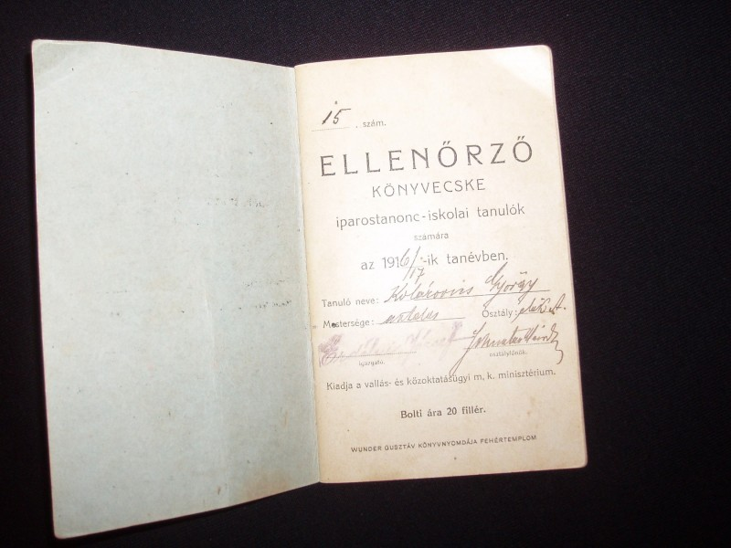 Ellenorzo,Konzvecske,1917,Madjarska djacka knjiz.