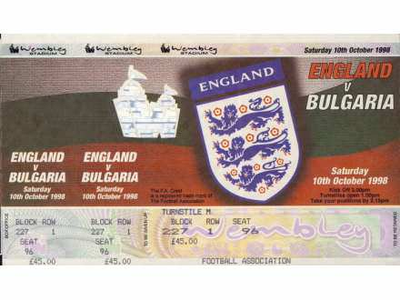 England - Bulgaria   ,   1998.god.