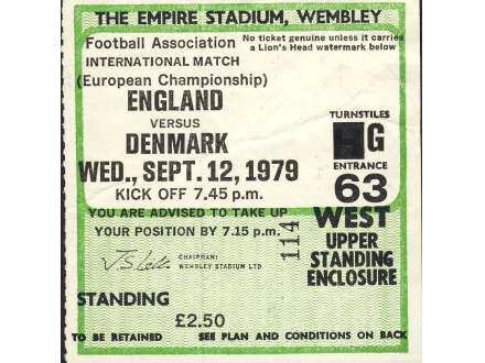 England - Denmark   ,   1979.god.