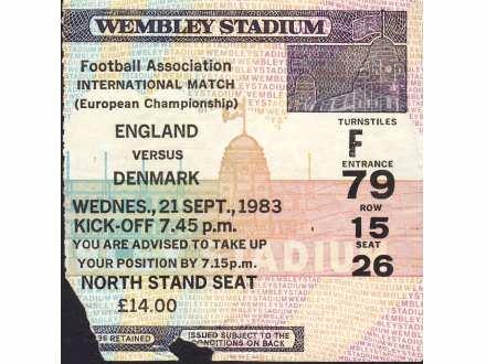 England - Denmark   ,   1983.god.
