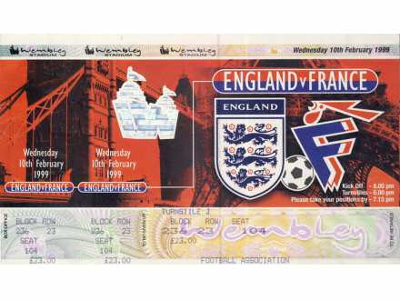 England - France   ,   1999.god.