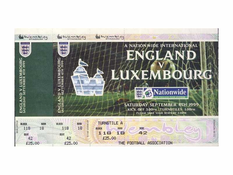 England - Luxembourg   ,   1999.god.