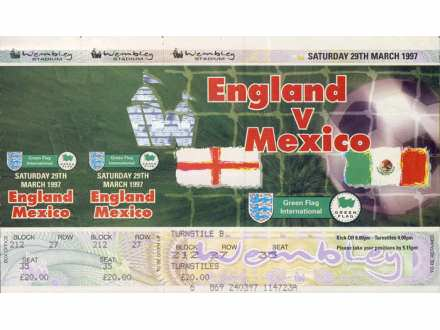 England - Mexico   ,   1997.god.