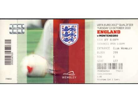 England - Montenegro   ,   2010.god.