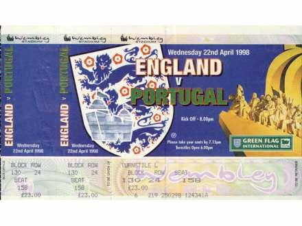 England - Portugal   ,   1998.god.