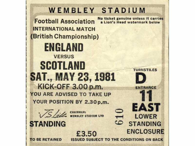 England - Scotland   ,   1981.god.