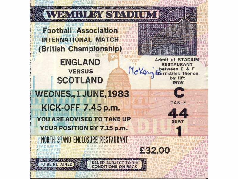 England - Scotland   ,   1983.god.