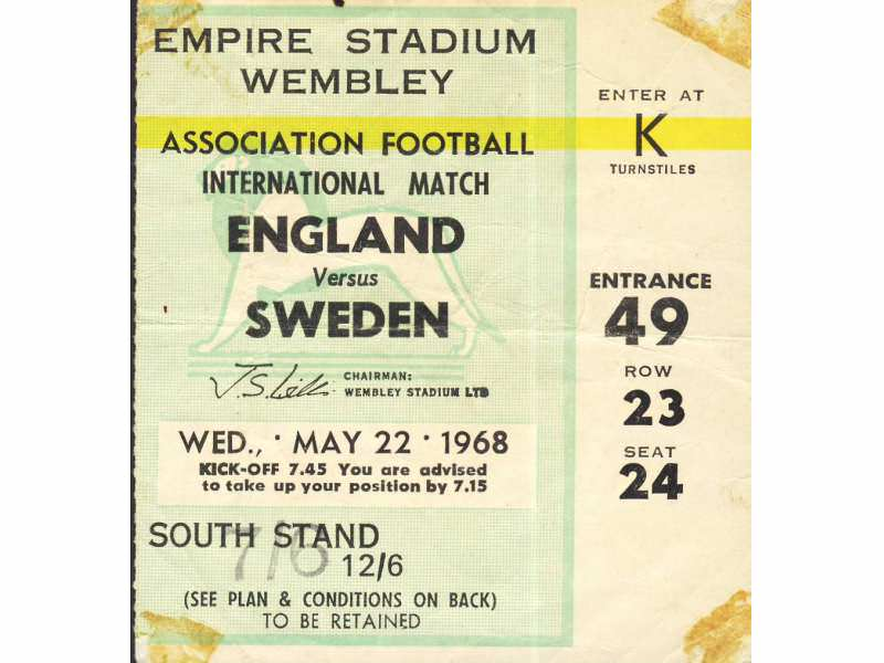 England - Sweden   ,   1968.god.