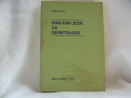 Engleski jezik za defektologe, Zora Pejić