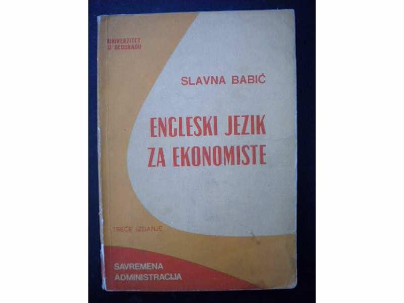 Engleski jezik za ekonomiste - Slavna Babic