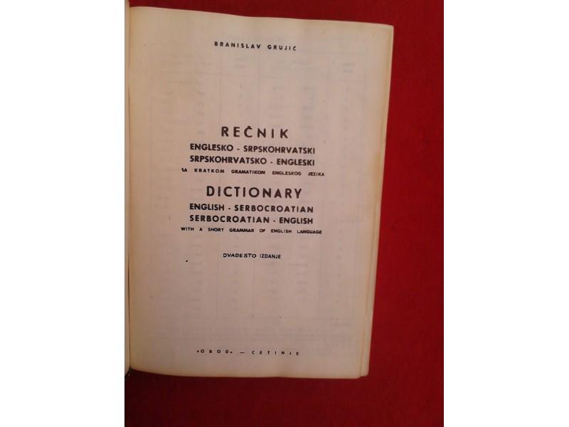 Englesko -Srpkohrvatski rečnik