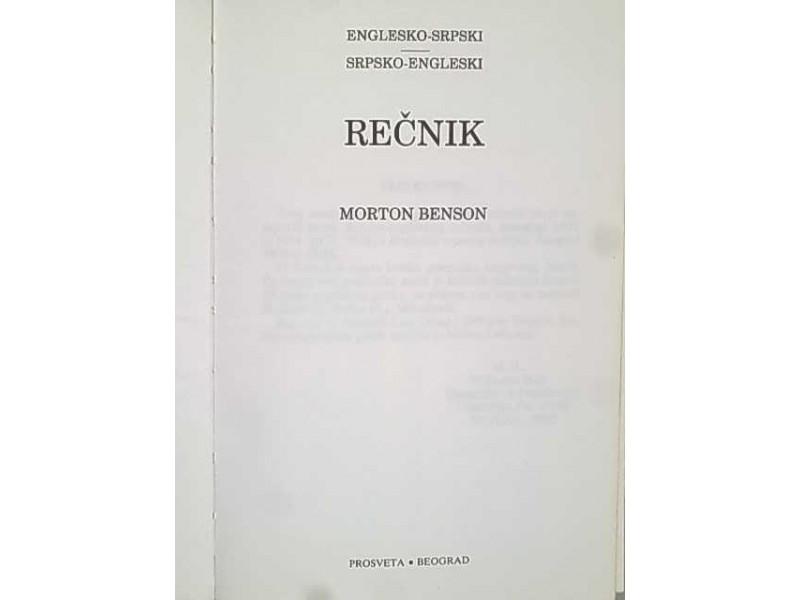 Englesko-Srpski recnik sa gramatikom-Morton Benson