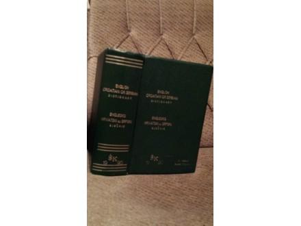 Englesko-hrvatsko ili srpski rečnik 1990 /veliki format