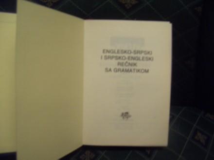 Englesko-srpski,srpsko-eng,sa gramatikom