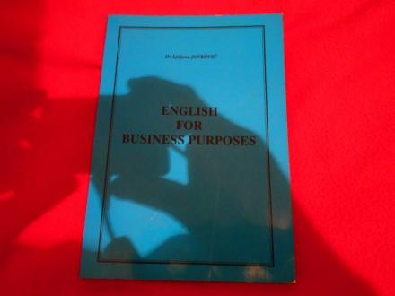 English for business purposes,Ljiljana Jovković