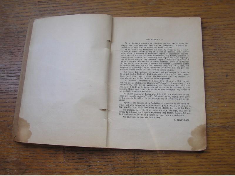 F. Novljan Esperanto u 30 lekcija